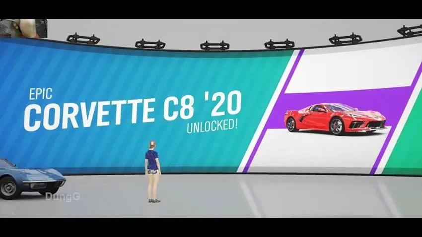 How to get the Chevrolet C8 Corvette in Forza Horizon 4