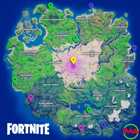 All XP Coin locations Fortnite Chapter 2 Season 5 Week 12