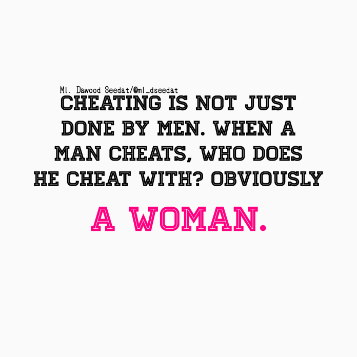 What to do when a man cheats