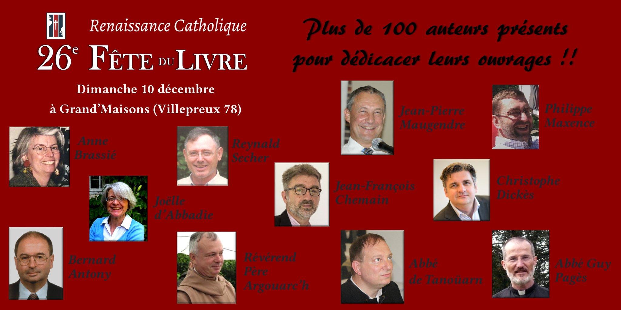 Dédicace à la 26e Fête du Livre, dimanche 10 décembre à Villepreux