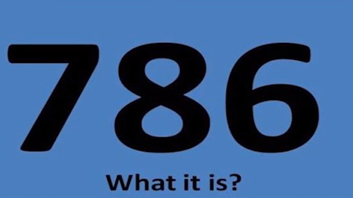 What is 786?