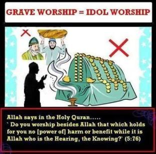 Grave Worship = Idol Worship