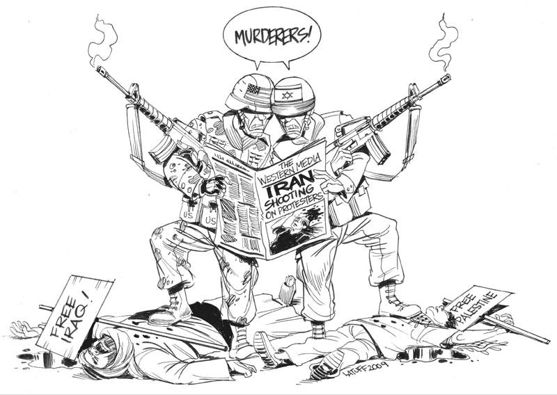 Cartoons/caricatures on the Jewish War against Iran