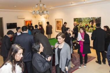 A large gathering of art enthusiasts, diplomats, officials attended the art event in Islamabad.