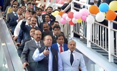 PM Nawaz Sharif inaugurates new Metro Bus Project in Islamabad, Pakistan