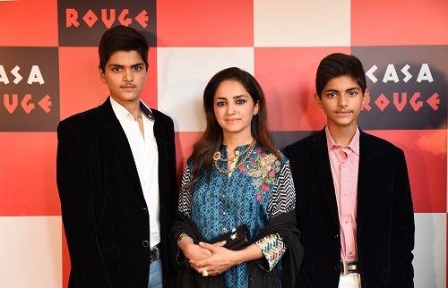 Visitors at the launch of Casa Rouge restaurant in Islamabad.