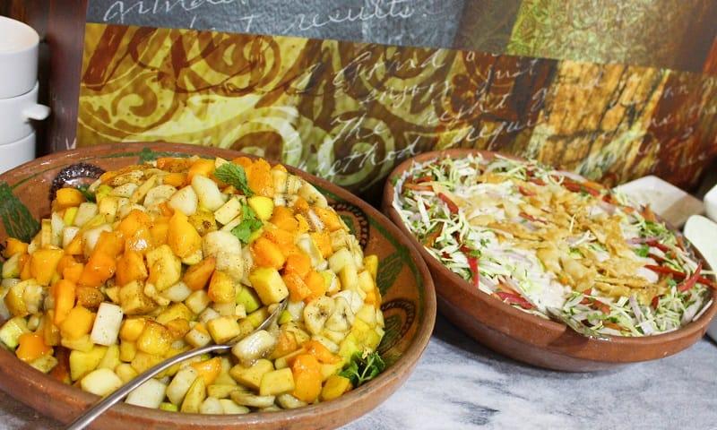 Fruit salad and Dahi Phulki