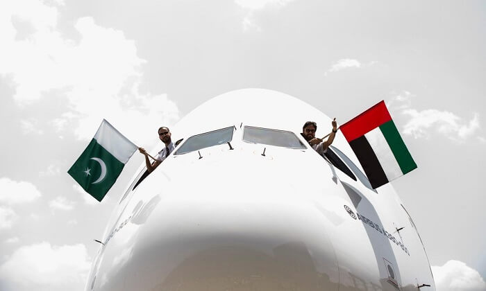 The special Emirates A380 flight was operated by UAE national, Capt Abbas Shaban, Chief Pilot of Technical Operations and Pakistani national, First Officer Qadir Moin.