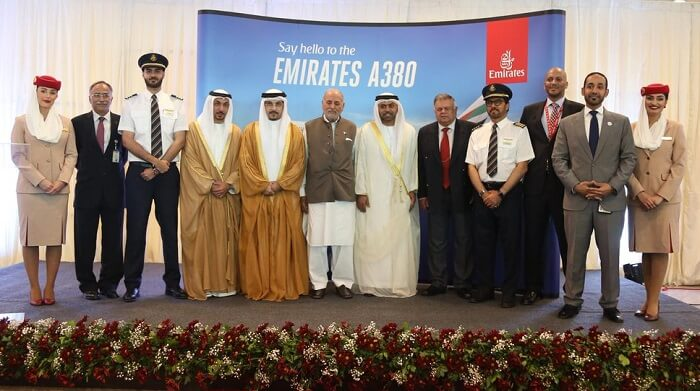 Emirates A380 lands at Islamabad International Airport