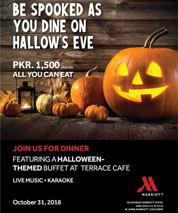 Halloween themed dinner buffet at Terrace Cafe