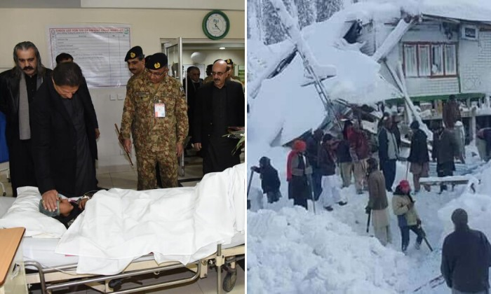 PM Imran visits AJK as death toll from avalanche rises to 70