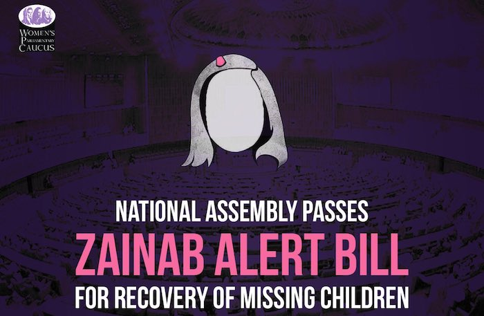 NA approves Zainab Alert Bill to prevent child abuse