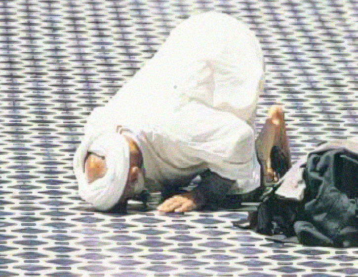 A Moroccan in prayer