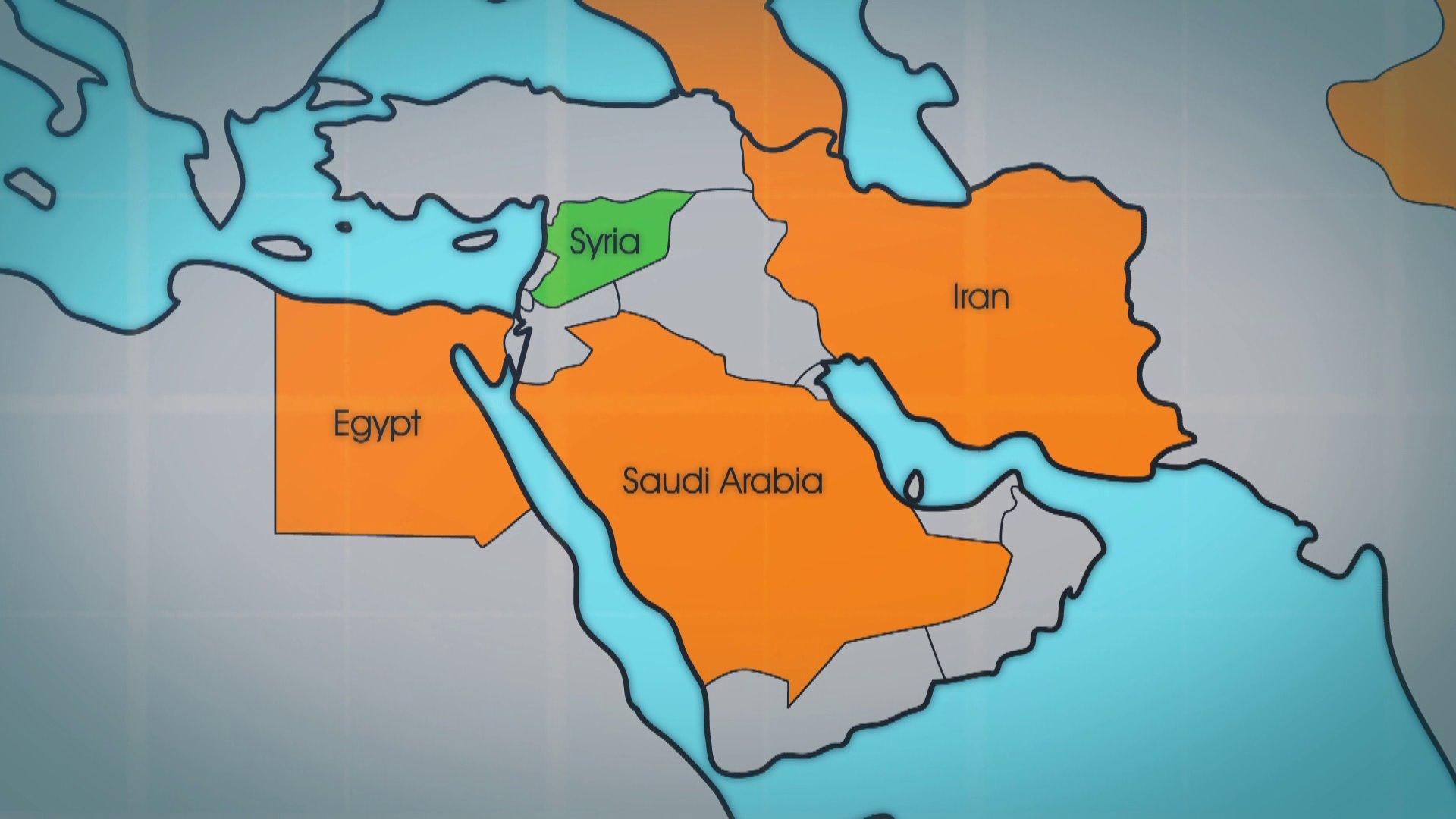 Saudi Arabia Egypt Show Discord Over Syria AP Platos Guns - Map of egypt and saudi arabia