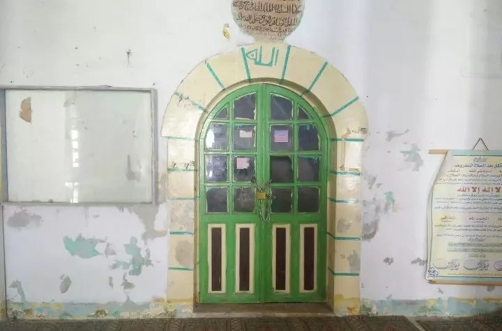 The door leading to the tomb of Prophet Lut (upon him be peace)