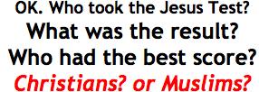 Jesus Test scores