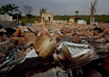 Sisa-sisa pembakaran di Rakhine, Myanmar.  Foto: Global Risk Insights