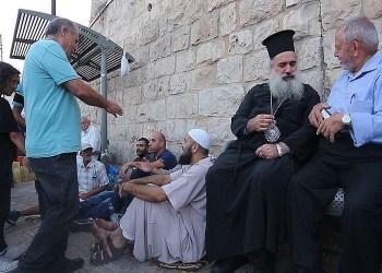 Umat kristen dan muslim di Negara Palestina  Foto: AnadoluAgency
