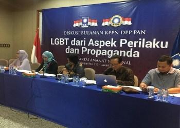 Diskusi Bulanan KPPN DPP PAN dengan Tema Bahaya LGBT dari Sisi Perilaku dan Propaganda di Kantor DPP PAN Jalan Senopati Kebayoran Baru Jakarta Selatan Kamis (1/2). Foto: Rhio/Islampos