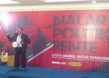 "Zulkifli Hasan saat menghadiri launching buku ""Nalar Politik Rente"" karya Dahnil Anzar Simanjuntak di Gedung Pusat Dakwah Muhammadiyah, Menteng, Rabu (28/02/2018). Foto: Tommy/Islampos."