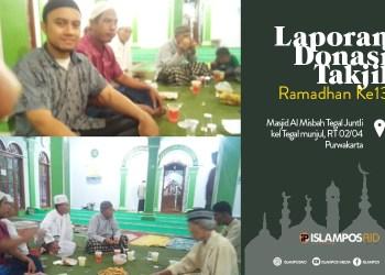 Takjil ke-13 IslamposAid Diberikan di MasjidAl-Misbah, Tegal Junti, Tegal Munjul, Purwakarta 3