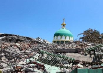 Masjid Muhajirin di Dusun Lempenge, Desa Rempek, Kecamatan Gangga, Kabupaten Lombok Utara. Foto: INA NEWS AGENCY
