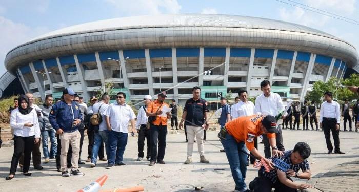 Rekonstruksi penganiayaan Haringga Sirilla. Foto: antarafoto.com
