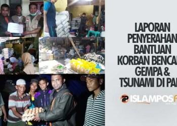 2 Hari Pasca Tsunami Palu, IslamposAid Kirim Bantuan Langsung ke 15 Titik Bencana 1