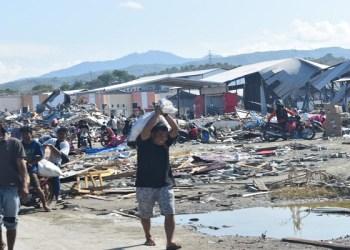 Reruntuhan terdampak gempa di Donggala, Palu. Foto: Istimewa