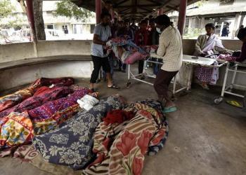 Korban miras oplosan di India. Foto: AFP