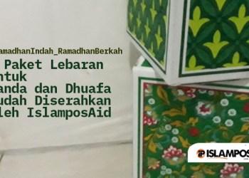 6 Paket Lebaran untuk Janda dan Dhuafa Sudah Diserahkan oleh IslamposAid, Ini Laporannya 1