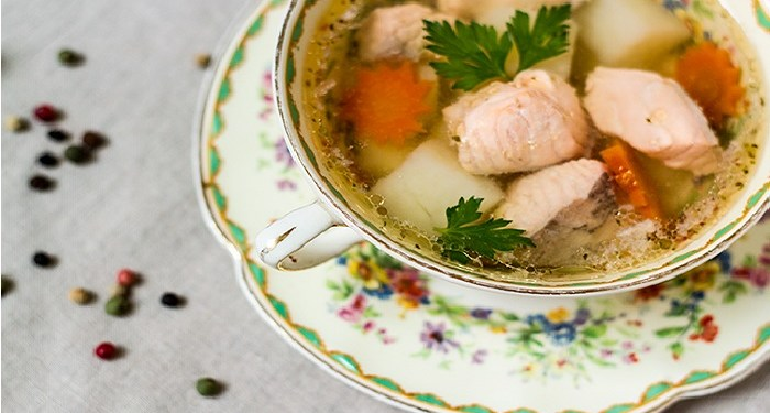 Ukha, sop halal kuliner khas Rusia. Foto: Lublyou