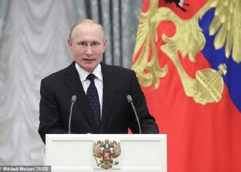 Presiden Rusia Vladimir Putin. Foto: Daily Mail