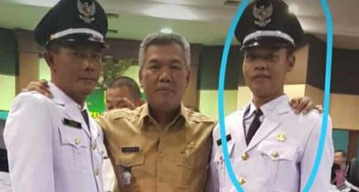 Kades Sukaraja Dede Iskandar (kanan) meninggal dunia karena serangan jantung. Foto: Detik