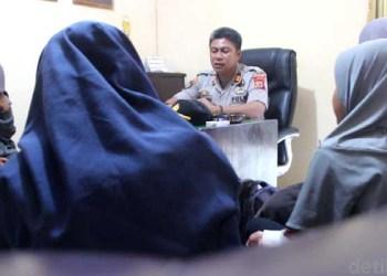 Siswi yang viral mabuk diamankan polisi. Foto: detikcom