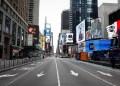 Jalanan yang sepi di New York. Foto: Tempo