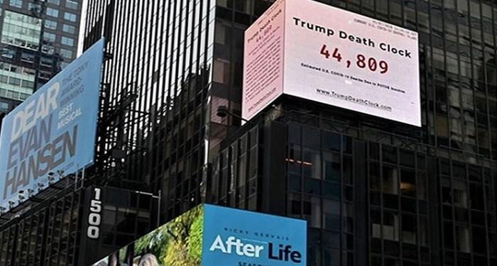 Trump Death Clock. Foto: Nueva Tribuna