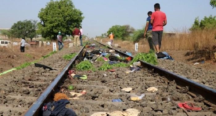 Belasan buruh di India tertabrak kereta. Foto: Reuters