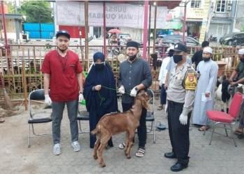 lapak hewan kurban gratis untuk penghapal Alquran. Foto: Tribun Jakarta