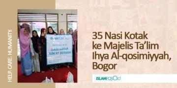 35 Nasi Kotak ke Majelis Ta'lim Ihya Alqosimiyyah, Bogor 1