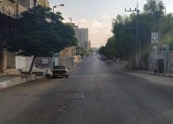Jalanan Gaza terlihat sepi. Foto: PIC