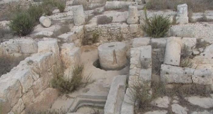 Situs arkeologi Deir Samaan. Foto: WAFA