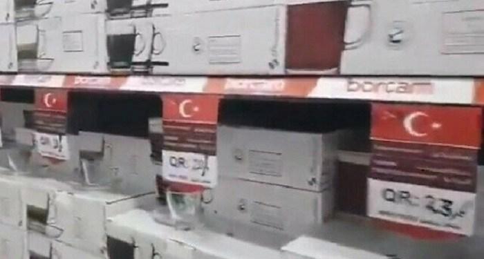 Sebuah toko di Qatar menjual produk-produk Turki. Foto: Twitter