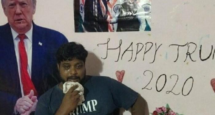 Pria India penyembah Trump meninggal dunia. Foto: Yeni Safak