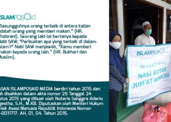 IslamposAid Serahkan Nasi Kotak Jumat ke Jamaah Masjid Jami Al Mubarok, Jakarta Barat 1