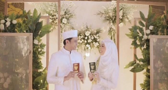 Hamas Syahid menikah. Foto: Tangkapan layar video Instagram Hamas Syahid