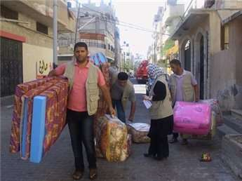 Amid destruction, ordinary Gazans open homes, churches to displaced