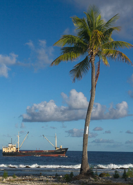 Nuku Hau - this cargo ship is carrying all of our supplies and equipment for the project