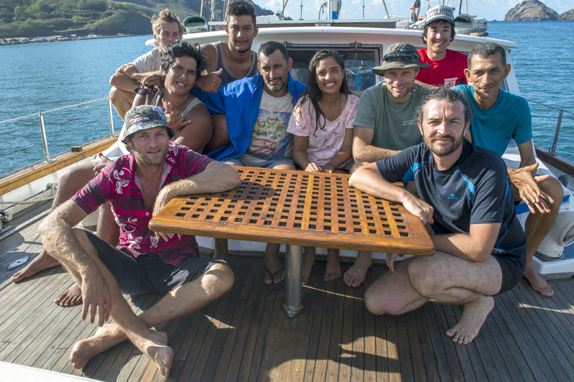 island conservation preventing extinctions team aboard shark marquesas