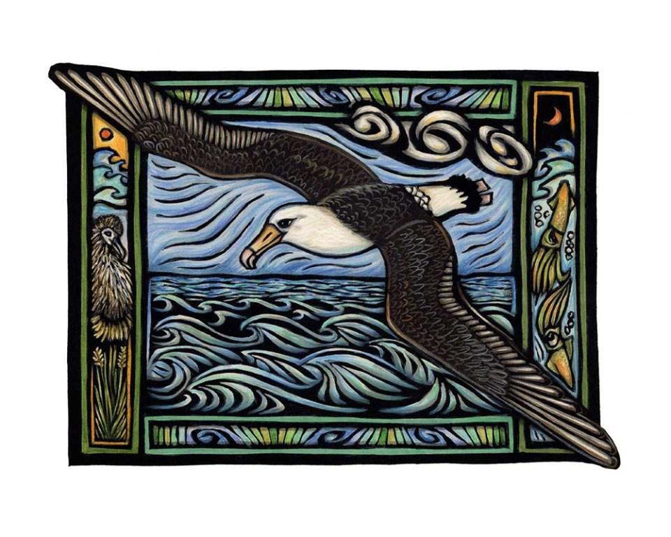 island-conservation-invasive-species-preventing-extinctions-caren-loebel-fried-albatross-artwork